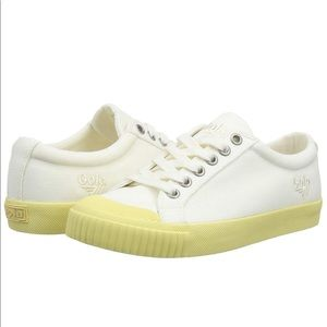 NIB Gola Tiebreak Candy Trainers Off White/Yellow